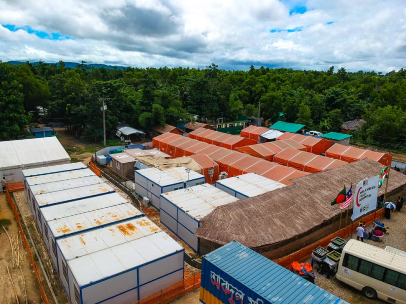 The Malaysian Field Hospital site in Cox's Bazar. (Photo credit: MAF)