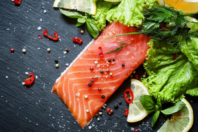 Regular consumption of oily fish such as salmon is sufficient for a regular healthy person.