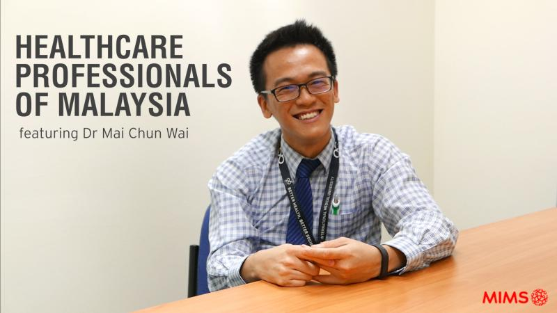 Healthcare professionals of Malaysia featuring research pharmacist Dr Mai Chun Wai.