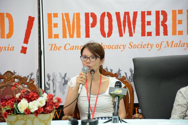 Dr Christina at the launch of EMPOWERED's 6th annual Colorectal Cancer Awareness, Screening and Treatment Project, in 2016. Photo credit: EMPOWERED