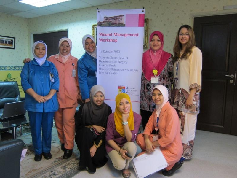 Dr Farrah-Hani founded the UKM Wound Care Team to standardise multi-disciplinary education.  Photo credit: Dr Farrah-Hani Imran