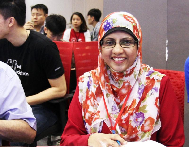 Dr Fazillah bt Shaik Allaudin, Deputy Director of eHealth Planning Unit of the Planning Division at Malaysia's Ministry of Health (MOH) hopes that the healthcare industry would be more open to accepting technological advances. Photo credit: Naja Najwa, Hacking Health KL
